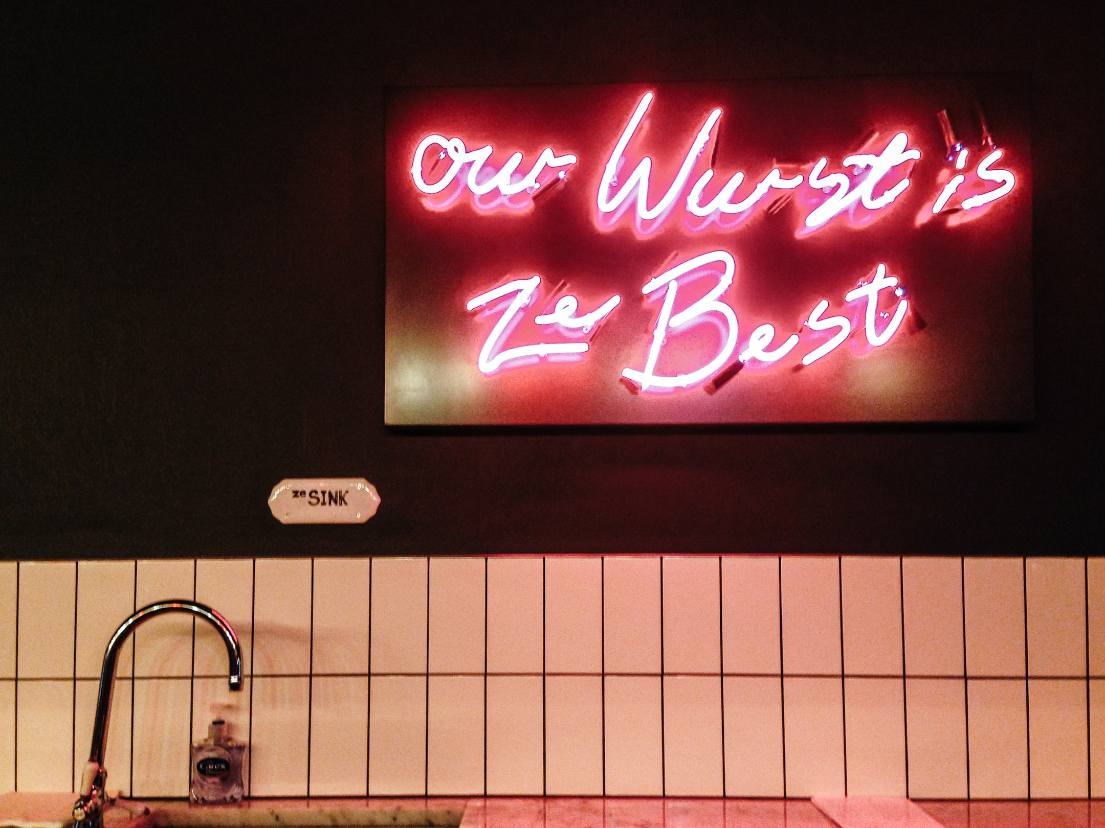 While walking down Old Compton Street in SoHo London, we stumbled upon  Herman Ze German, a casual german dining place. The logo, the signage and  even the ...